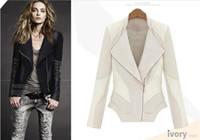 Women women winter leather jacket - 2014 Winter Coats Fashion jacket WJ13955 Leather stitching cotton Women s Jackets