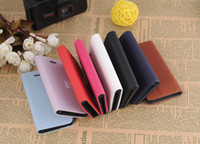 Leather For Apple iPhone  Lichee Folio Wallet PU Leather Case Cover for iphone 5 5G 5th 8colors 100pcs