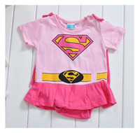 girls rompers - Baby One Piece baby Rompers boys girls Superman style Romper pink Super Man Rompers Batman Clothes
