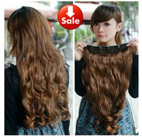 Wholesale ladies hair weft clip in hair extensions colors piece for full head synthetic part wig