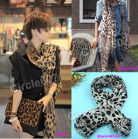 Wholesale New Style Fashion Women Long Soft Wrap Scarf Leopard Grain Shawls Silk Colors