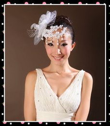 Wholesale New bride Handmade head flower lace Beads flowers party hair accessory pic