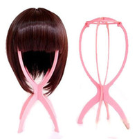 Pink/black/blue/white african wholesale hair wigs - pink blue white black fashion plastic wig stands hair accessory amp Tools