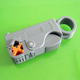 Free Shipping Rotary Coax Coaxial Cable Cutter Tool RG58 RG6 Stripper