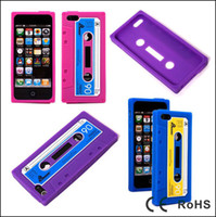 cassette case - Colorful Tape Cassette case for iPhone5 G Retro Silicon back cover with round hole free ship