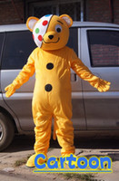 Wholesale yellow clown bear Mascot Costume for party good quality best price