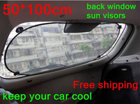 Rear Window Shades auto window shields - Newest Car Rear Back Window Sunscreen Sun Shade Visor Cover Mesh Shield auto accessories