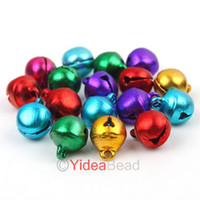 Wholesale 300pcs Mixed Colorful Merry Christmas Metal Copper Jingle Bells Charms Xmas Decoration