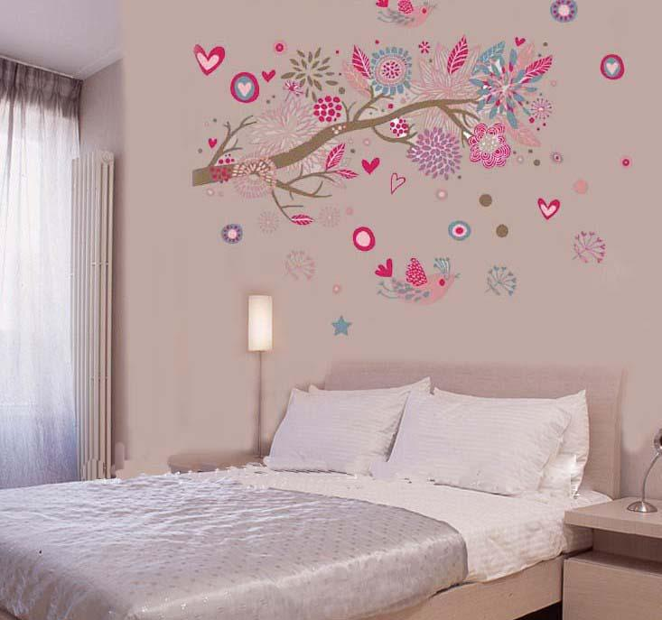 Elegant Elegant Tree Wall Stickers For Bedrooms Bedroom Ideas Beige Carpet D  Picture On With Tree Wall