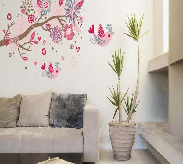 Bohemian albero di adesivi da muro, camera da letto,soggiorno ...