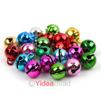 christmas trees wholesale - 204pcs Mixed Colorful Merry Christmas Metal Copper Jingle Bells Charms Xmas Decoration