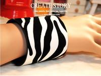 Fashion Bracelet Wide Snake Pattern Leopard Zebra Color PU 6...