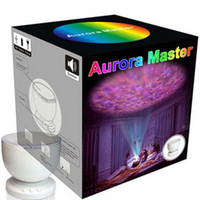 Wholesale Stunning Aurora Master Night Lamp LED Colorful Projector With MP3 Speaker USB Cable