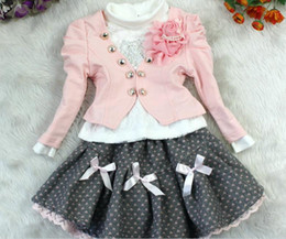 Wholesale Christmas And New Year Kids Clothing Set Girl Outfit And T Shirt And TUTU Skirts Flower Girl Dresses