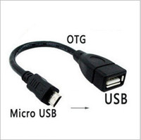 Wholesale 50pcs Micro USB Host Cable OTG cm mini usb cable for tablet pc mobile phone mp4 mp5