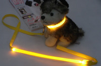 Wholesale 10pcs XS pet traction rope LED light strap luminous belt many colors