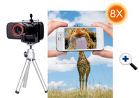 Universal good EW2009 Universal 8 x Zoom Telescope Camera Lens + Tripod Holder For Mobile Phone Cell Phone 30pcs