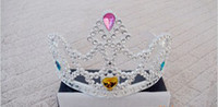 Wholesale miss Plastic Crown Wedding Crown Tiara Hair Ornaments Party tiara Party Toys Dancing dress ac