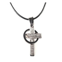 Wholesale Promotion Price Newest Stainless Steel Cross Pendant Necklace