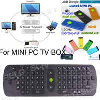 Wholesale Gyroscope Mini Fly Air Mouse RC11 GHz Wireless Keyboard For Google Android Mini PC TV Palyer BOX