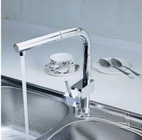Centerset  Pull Down Chrome pull out faucet finish bathroom tap mixer waterfall kitchen