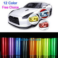 Wholesale 12 quot x quot Colorful Car Light Headlight Vinyl Films Smoke Fog Taillight Overlay Protector Film