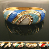 Wholesale Luxury Cheap Fashion Bracelet KGP Enamel charm Cleopatra Of Egypt Design With Rhinestone Valentine s Day gift