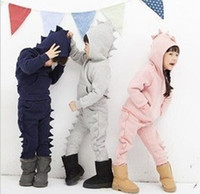 4T-5T track suit - Baby girls and boys track suit new leisure foreign trade suit dinosaur suit
