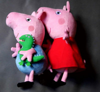 Wholesale brand new hard wash peppa pig amp george pig plush large size cute kids toddler toys pink