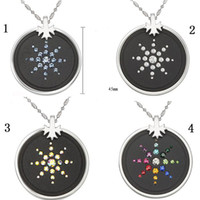 Wholesale New Health jewelry Quantum Pendants inlaid crystal dril scalar energy necklace dynamic blance color available