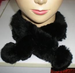 Rex Rabbit Fur Neck scarf Neck Warmer mixed color 10pcs lot #2324