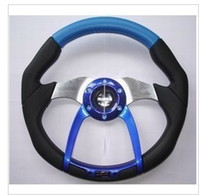 Wholesale Steering wheel PVC carbon fiber pattern imitation racing steering wheel artificial leather car modif