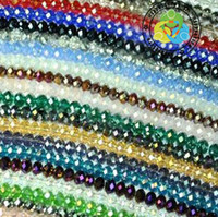crystal beads - DIY mm U Pick Multicolour oblate faceted Crystal Beads looes beads