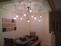 Wholesale 10 Braided flexable light Edison Ancints Vintage Chandeliers DIY Ceiling Pendant suspended lamp HOT