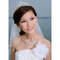 Crown Rhinestone/Crystal  Sliver color Wedding Bridal crystal veil tiara crown headband Wedding Pageant