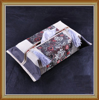 Wholesale Facial Tissue Box Holder Latest Rectangular High quality Cotton Tassel mix color Free