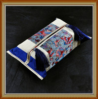 Wholesale Sofa Tissue Box Cover Unique Latest High quality Cotton Fabric Tassel mix color Free