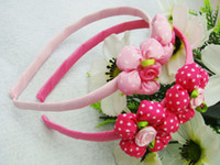 Hairband Fabric Floral Children's Hair Accessories The five petals of Roses Hair Hands Flower Hair Accessories for Girls
