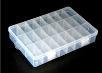 Wholesale 24 Grid Jewelry box storage box Plastic and transparent jewelry storage box
