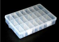 Wholesale Good quality Grid Ladies Jewelry box storage box Plastic and transparent jewelry storage case gift