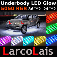 Wholesale 24 Mode quot quot Wireless Remote Color RGB Underbody LED Glow Strip Light Kit Under Car Tube