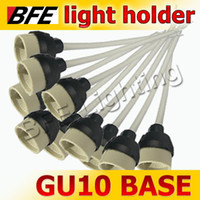 Wholesale 100pcs GU10 Base Socket LED Light Bulbs Lamps New Regulation Ceramic Mains Holder Wire Connector