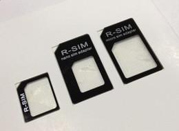 3 en 1 Nano Adaptateur SIM pour iPhone 5 5G Restauré Micro Sim standard Adaptateurs (3000pcs) 1000set