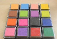 Wholesale Promotions Korea style Stationery Color Ink Pad Inkpad good for stamp Funny Work