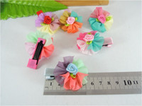 Flower Hair Clips Christmas Fashion baby hair clips Assorted Colours Decorative hairpin Flowers style For Baby Hair clips