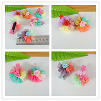 Flower Hair Clips Christmas Baby girl beautiful hair clips with flower hair clips bow lace flower baby lace hairpin