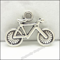 Traditional Charm bicycle antique - Tibetan fashion Bicycle charm pendant Antique Silver zinc alloy Fitting Fit DIY Making