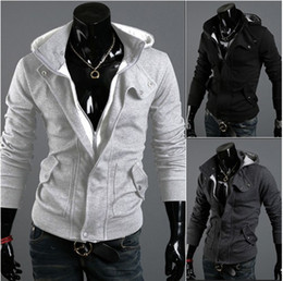 Wholesale HOT Men s Hoodies amp Sweatshirts Jacket Men s Slim Leisure Zipper Jacket Sweater Coat