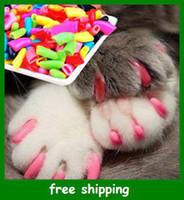Wholesale Novelty Soft Dog Pet Nail Caps Claw Control Paws off Adhesive Glue Gxg Cat nail sets