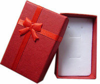 Wholesale Free ship jewelry box necklace package ring box